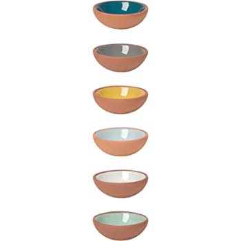 Now Designs Terracotta Pinch Bowls, Set of 6