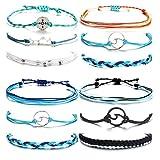 choice of all 3 Pcs Summer Surfer Wave Bracelet Adjustable Friendship Bracelet Handcrafted Jewelry Women (I:4 sets)