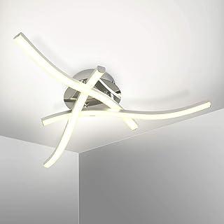 Kingwei Lámpara de techo LED 18W, Plafon led techo moderno 4000K Luz blanca natural, Plafones de techo de diseño curvo con 3 placas para salón dormitorio escalera pasillo