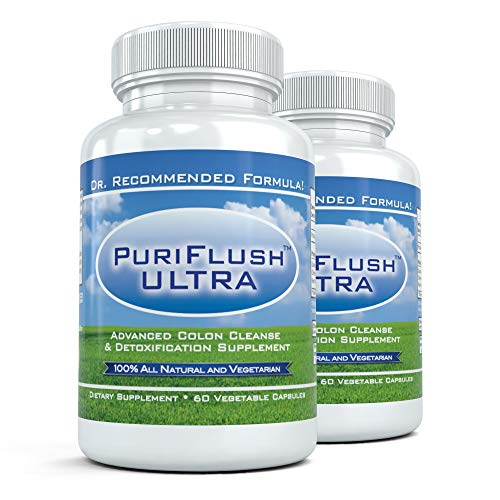 PURIFLUSH Ultra - The All-Natural, Complete Colon Cleansing Supplement - Intestinal Cleanse and Detox Formula (60 Capsules)