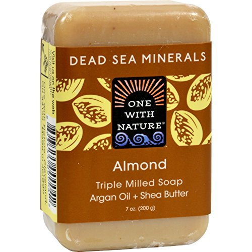 ONE WITH NATURE DEAD SEA BAR SOAP,ALMOND, 7 OZ by One With Nature