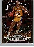 2019-20 Prizm NBA #20 Kareem Abdul-Jabbar Los Angeles Lakers Official Panini Basketball Trading Card