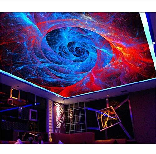 Wuyyii Personalizzato 3D Foto Carta Da Parati Soffitto Camera Murale Astratta Spirale Modello Scenario Zenith Soffitto Dipinto Hd Foto 3D Niet Tessuto Murale 250x175cm