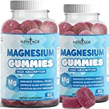 Magnesium Gummies - Calming Anti-Stress Gummies, Magnesium Supplement for Adults and Kids, Vegan, Gelatin-Free, Gluten-Free, Non-GMO, Delicious Natural Raspberry Flavor- 120 Count - by New Age