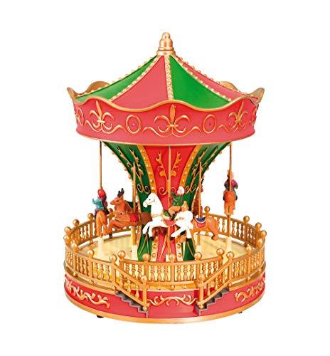 Nostalgie Spieluhr Pferde Karussell mit Musik, Licht & Bewegung