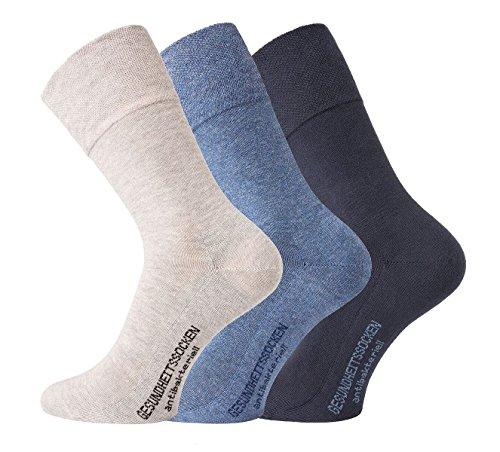 TippTexx 24 9 Paar Ökotex Socken mit zusätzlicher Garantie, Ges&heitssocken = GERUCHSKILLER (Blaues Sortiment, 39-42)