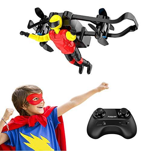 Tomzon Mini Drohne für Kinder und Anfänger, RC Quadcopter, Stunt Ferngesteuerte Hubschrauber mit Übermensch, Höhe Halten, Spielzeug und Geschenk für Kinder