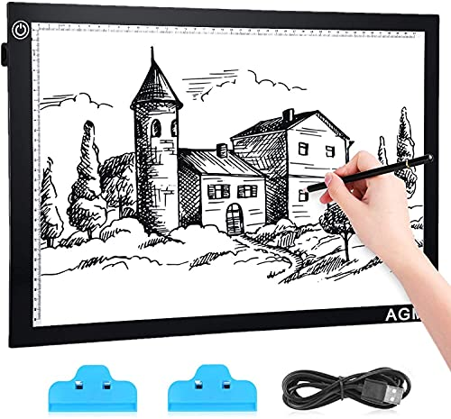 A3 Light Box LED Copy Drawing Board with Adjustable Brightness Accurate, 5mm Ultra-Thin, Art Craft...