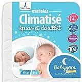 Babysom - Matelas Bébé Climatisé Eté/Hiver - 70 x 140cm - Epaisseur 14cm - Anti...