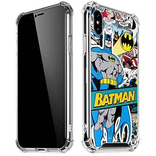 Skinit Clear Phone Case Compatible with iPhone X/XS - Officially Licensed Warner Bros Batman Comic...