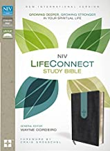 NIV, LifeConnect Study Bible, Leathersoft, Gray/Blue, Red Letter Edition: Growing Deeper, Growing Stronger in Your Spiritual Life