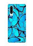 Oihxse Silicone Transparente Case avec Motif Papillon Compatible pour Huawei Nova 3I/P Smart Plus...
