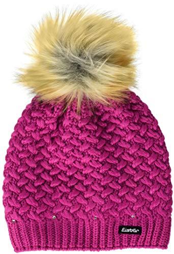 Eisbär Kinder Shanita Lux Crystal Mütze, deep pink-h.braun, One Size