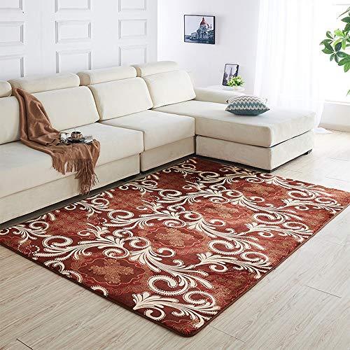 Zhao Li vloerbedekking, groot tapijt, dikte 0,39 inch, comfortabel, laagpolig tapijt, voor slaapkamer, woonkamer, eetkamer, gemakkelijk te reinigen en duurzaam.