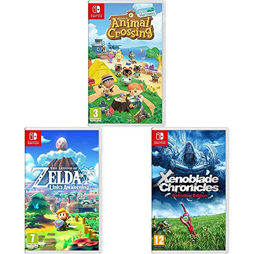 Animal Crossing: New Horizons + Zelda Link's Awakening Remake + Xenoblade Chronicles: Definitive Edition