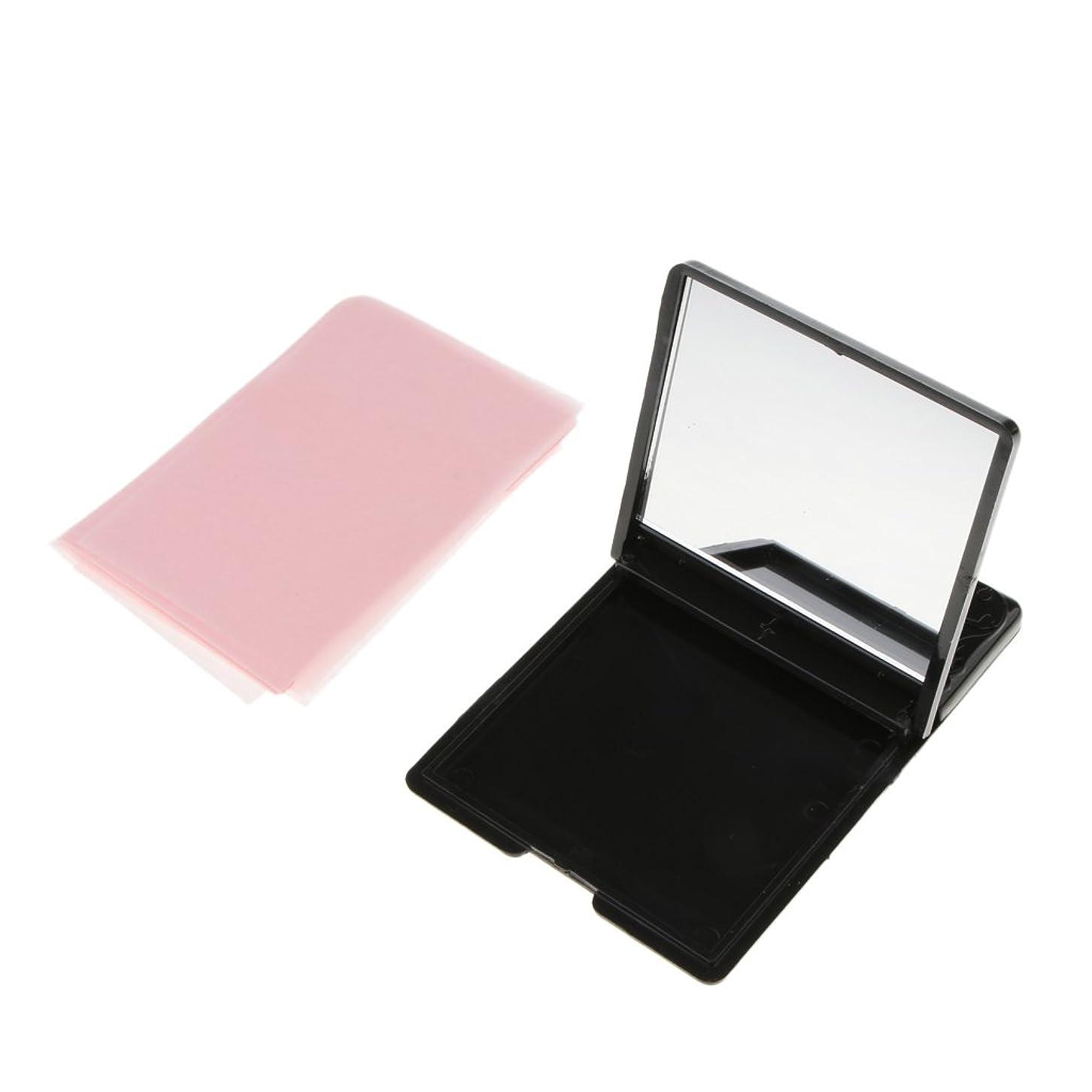 挑む生き残ります現実的Homyl ミラーケース 化粧鏡 あぶらとり紙 オイル吸収ティッシュ 約50枚 メイクアップ 化粧用 スキンケア