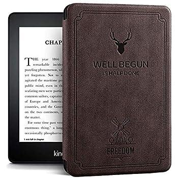 ProElite Deer Smart Flip case Cover for All Amazon Kindle Paperwhite 10th Generation (Deer Coffee)