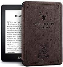 ProElite Deer Smart Flip case Cover for All Amazon Kindle Paperwhite 10th Generation (Deer Coffee)