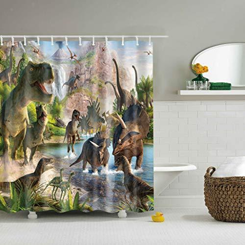 dsgrdhrty Wasserdichter Animal'Print Badezimmer Duschvorhang dekorativen Stil wasserdicht 180x180