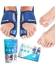 Sports Laboratory Bunion Corrector Set - Day & Night Kit - Ultieme pijnverlichting en bescherming - 2 x Bunion Splints, 2 x Big Toe Straighteners en 1 x Bunion Relief Guide - Aanpasbare maat