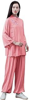 KSUA Women Kung Fu Uniform Tai Chi Suit Cotton Martial Arts Suit Zen Meditation