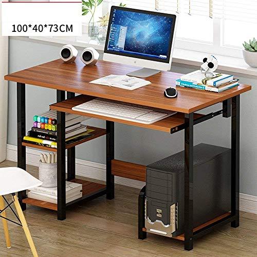 DGHJK Mesa de Centro de Muebles, Escritorio de computadora con Bandeja Deslizante para Teclado, estantes y casilleros Muebles de Oficina en casa (Color: C) (Color: B)