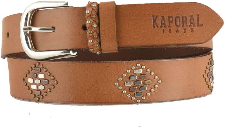 Kaporal Jeans  Women's belt 100% Buffalo leather Kaporal Jeans Elir  Brown, 85