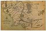 El Señor de los Anillos Mapa Puzzles para Adultos 1000 Piezas DIY Rompecabezas de Imágenes Juguetes Interesantes Rompecabezas Rompecabezas Arte Rompecabezas Únicos Juegos de Rompecabezas Duros