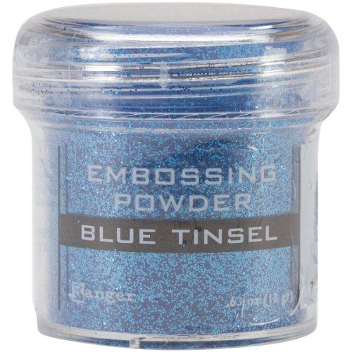 Ranger Blau Tinsel-Embossing Puder, Acryl, Mehrfarbig