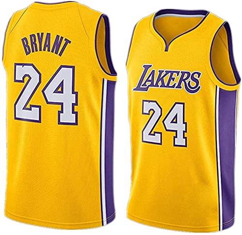 Siamrose Uniformes de Baloncesto Lakers # 24 Jerseys de Verano Bordado Sportswear Chaleco Transpirable sin Mangas Hombres Mujer Tops (Color : Yellow, Size : XXL-Xxlarge)