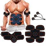 UNOSEKS Abs Stimulator Muscle Toner, Abdominal Toning Belt, USB Charging Portable AB Machine, EMS Training Home Office Fitness Equipment for Abdomen/Arm/Leg Training Men Women