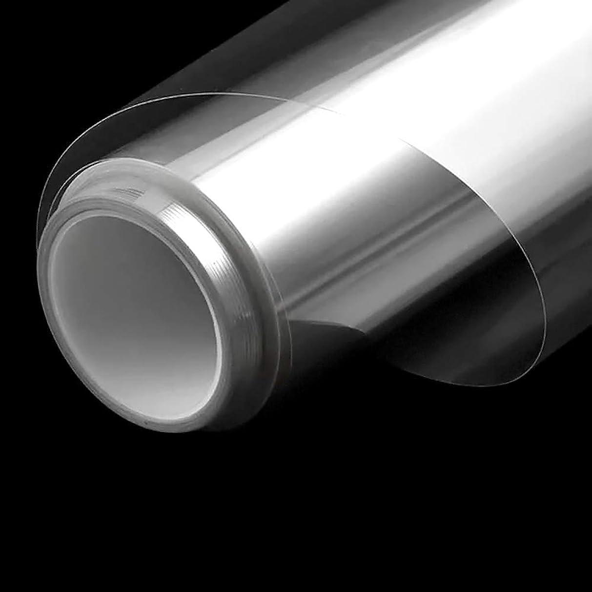 傾斜柔和助言窓ガラスフィルム 透明 建築建物ガラスフィルム 厚さ0.05mm 可視光透過96% カット飛散防止フィルム 防災 地震 防災フィルム 窓 安全フィルム(90cm X20m)