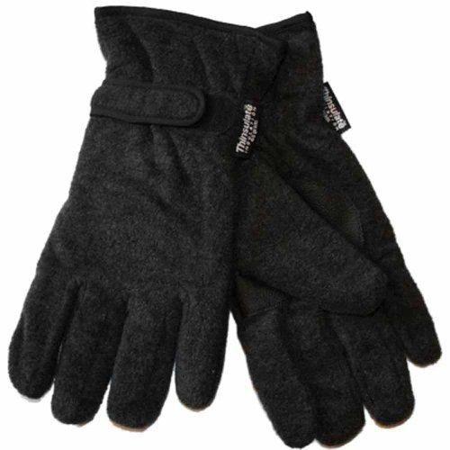 Gants d'hiver thermiques doublés en polaire pour homme GL127 L/XL Gris