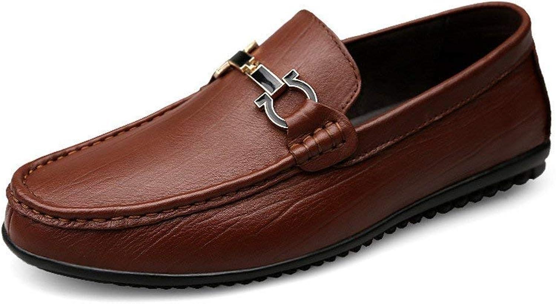 Oudan Herren Mokassins Mokassins Mokassins Schuhe, Herren Leder gefüttert Driving Loafer Style Flexible Leichte Rutschfeste Comfort Casual Boat Mokassins (Farbe   Braun, Größe   40 EU)  5921ac