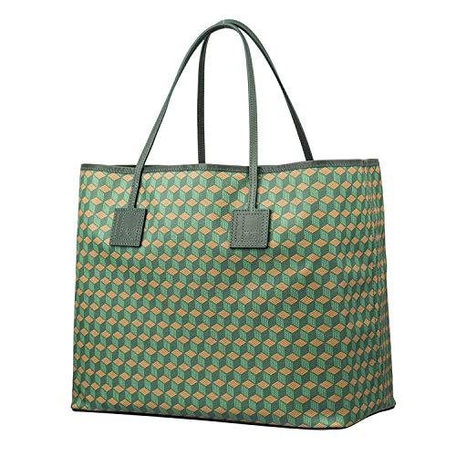 RELIQUIAE ESPAÑA Bolso Shopping L Color Esmeralda. Bolso de Hombro de Mujer. Bolso Exclusivo Diseño Elegante