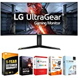LG 38GL950G-B 38-inch Curved WQHD+ 3840 x 1600 Nano IPS Display Gaming Monitor Bundle with Tech Smart USA Elite Suite 18 Standard Editing Software Bundle and 1 Year Extended Warranty