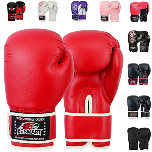 4OZ Flachmann 8oz Kinder Boxhandschuhe Junior Pad Boxsack Kinder Gel Pad Handschuh, damen Kinder Herren, Red Sub