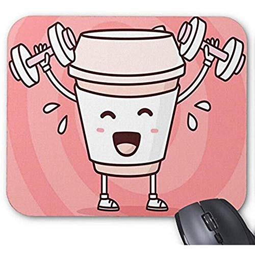 Mousepad Workout koffie slecht voor u afdrukken muismat