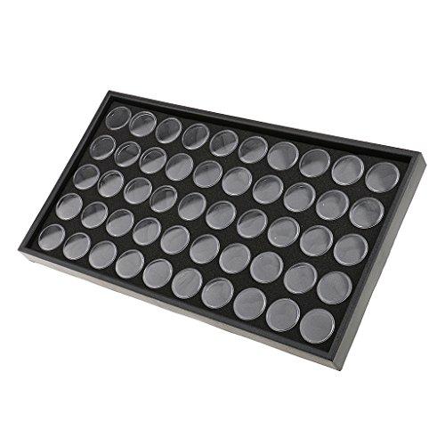 MagiDeal Boîte de Rangement à 50 Bouteilles Vide Stockage de Paillettes Poudre Accessoires pour Ongles