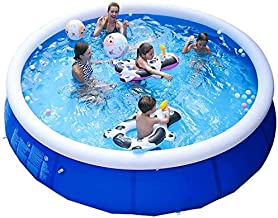 BHDYHM Summer Outdoor Fun Round Paddling Pool Courtyard Swimming Pool, 11.8 2.5Ft Home Adult Children's Indoor Swimming Pool Easy to Install for The Family
