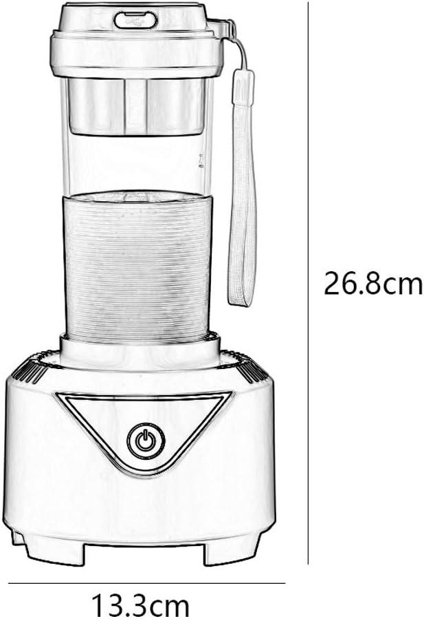 Presse-Agrumes Électrique Personnel Fruit Smoothie Juicer Portable Blender Peut Refroidissement 300ml Mixer USB De Charge Machine De Cuisson XMJ (Color : Pink) Blue