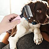 Fournyaa Herramienta de Aseo Aseo para Perros, Cepillo para el Pelo para Mascotas, Cepillo para el Pelo Peine para Nudos, Cepillo para el Aseo Furminator(Pink, Small)