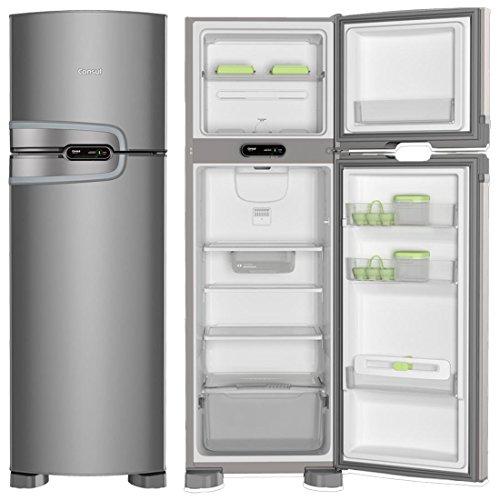 Geladeira Consul Frost Free Duplex 275 litros cor Inox com Prateleiras Altura Flex - 220V