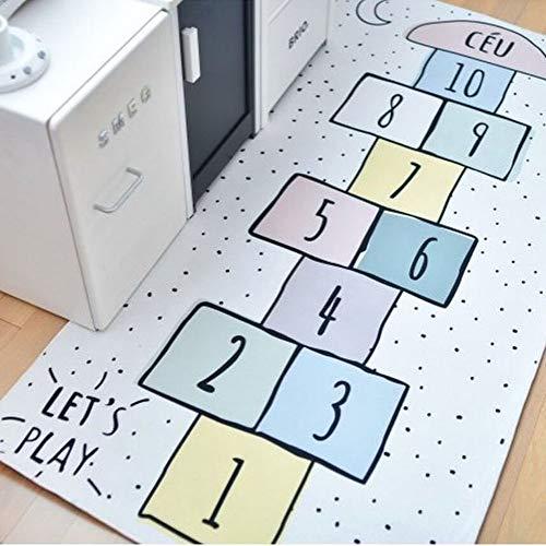 TYXL Carpet El Juego Creativo For Los Niños De Alfombra Damas Insípidos Digitales Salón Alfombra Tela Desgaste Juego De Puzzle For Niños De Jardín De Infantes Estera (160 * 80cm)