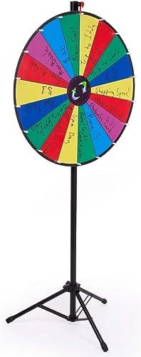 Displays2go Preis Rad mit h nverstellbaren Bodenst er 18 ot Design 30 schriftbare Oberfl e für Nass oder Trocken abwischbare Marker (Tragetaschen enthalten)