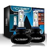 NOVSIGHT HB4車用ledヘッドライト 50W(25Wx2) 8000LM(4000LMx2) 6500K ファンレス ホウイト 2個セット 3年保証