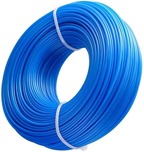 HET 1.6mm x 100m Strimmer Lignes, Ligne de Coupe-herbe Robuste Débroussailleuse Nylon Round Rope pour Tondeuse à Gazon électrique (Bleu)