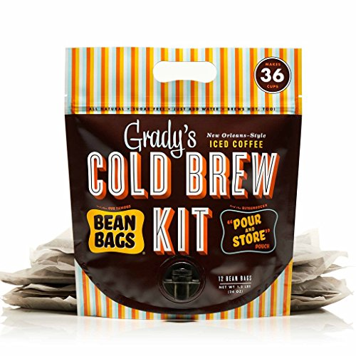 Grady's Cold Brew Iced Coffee Cold Brew Kit, Regular (Pack of 12), Unsweetened, Keto-Friendly, Non GMO, 1 Pound