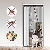 Cortina Mosquitera para Puertas, 100x220cm Puerta de pantalla magnética Malla para puerta, con sello magnético de cierre automático súper hermético y malla de poliéster duradera