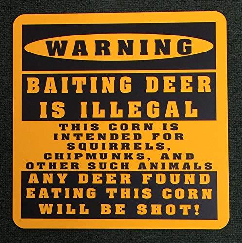 Targa in metallo – Deer Hunting Food Plot – Vintage Home Bar Yard Decor Segni rettangolo in alluminio divertente Wall Art, facile da montare, 30,5 x 30,5 cm